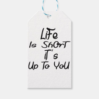 life is short gift tags