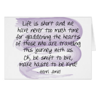 Life is short - Note Card