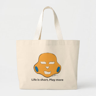 Life  is short, Play more. Jumbo Tote Bag