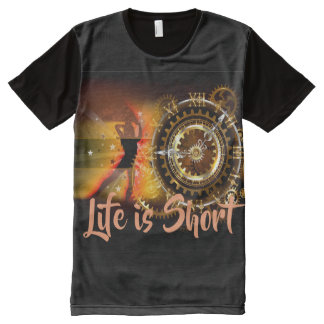 Life is Short (Time) All-Over Print T-Shirt