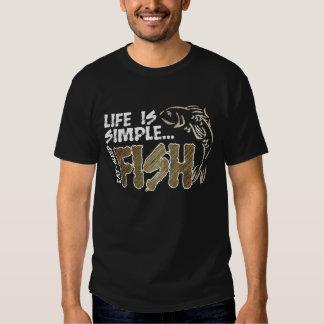 Life Is Simple Eat Sleep Fish T Shirts