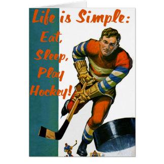 Life is Simple Eat Sleep Play Hockey Greeting Card