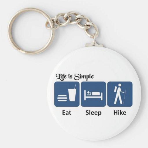 Life is simple, Hike Keychains
