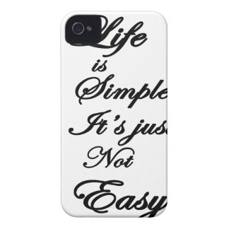 life is simple it is not easy iPhone 4 cases