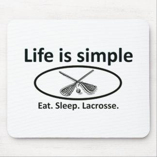 Life is simple, lacrosse mousepad