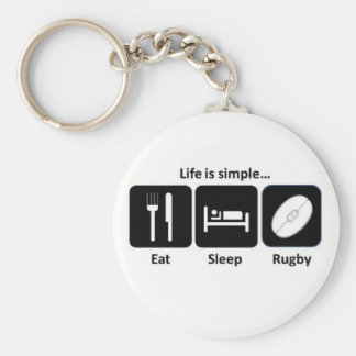 Life is simple Rugby Key Ring