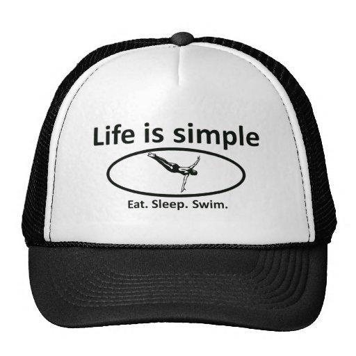 Life is simple, swim hats