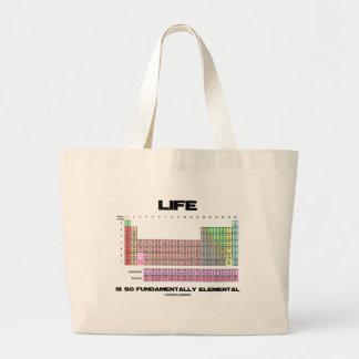 Life Is So Fundamentally Elemental Periodic Table Jumbo Tote Bag