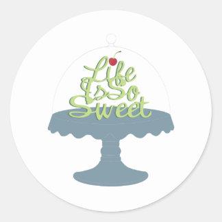 Life is So Sweet! Round Sticker