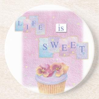 LIFE IS SWEET CUPCAKE ILLUSTRATED COASTER