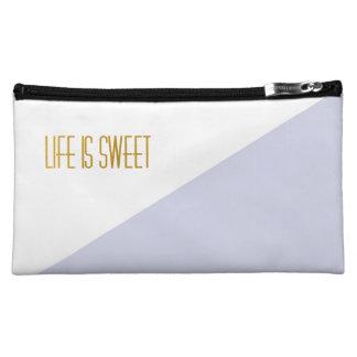 Life is Sweet | Golden | Stripe Chic Bag