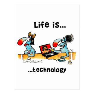 Life is... Technology Postcard