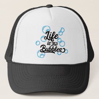 life is the bubbles mermaid quote saying tee shirt trucker hat