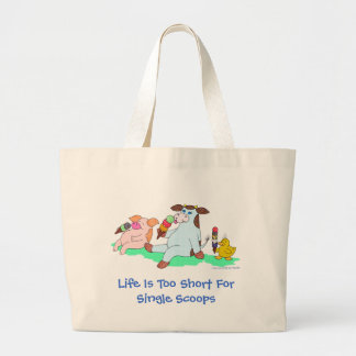 Life Is Too Short For Single Scoops Large Tote Bag