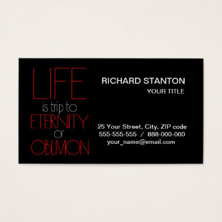 Life is trip business card