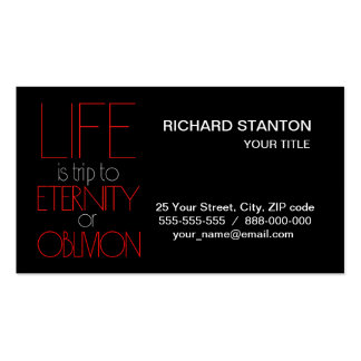 Life is trip pack of standard business cards