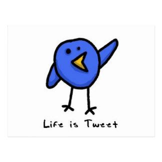 """""""Life is Tweet"""" Postcard"""