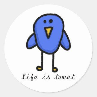 """life is tweet"" sticker"