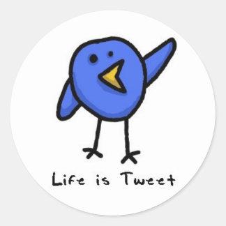 """""""Life is Tweet"""" Twitter Bird Sticker"""