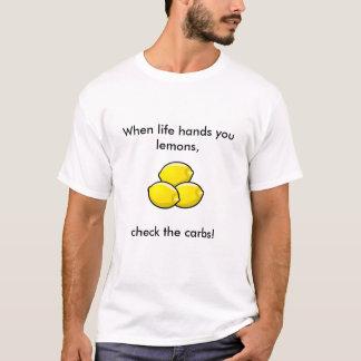 Life...lemons tee for some T1D humor