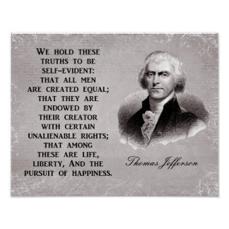 Life Liberty Pursuit of Happiness - Art Print