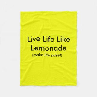 Life life like lemonade blanket