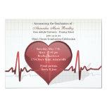 Life Line Medical Graduation Invitation 13 Cm X 18 Cm Invitation Card