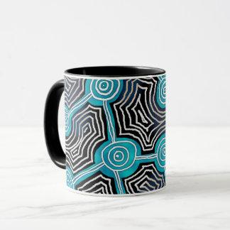Life Lines Aboriginal style abstract pattern Mug