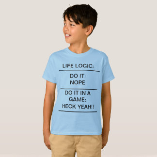 LIFE LOGIC Funny Kids T-Shirt School