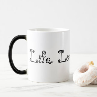 Life. Love. Blogging. Black Morphing Mug