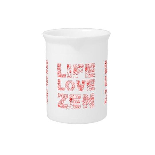 Life, Love, Zen Beverage Pitchers