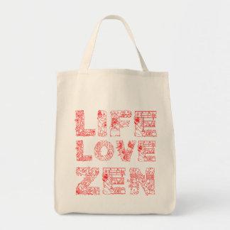 Life, Love, Zen Tote Bag