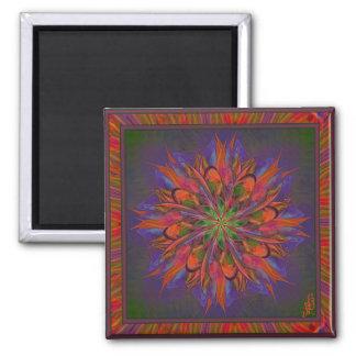 Life Mandala Square Magnet