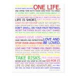Life Manifesto Colour Poster Postcard
