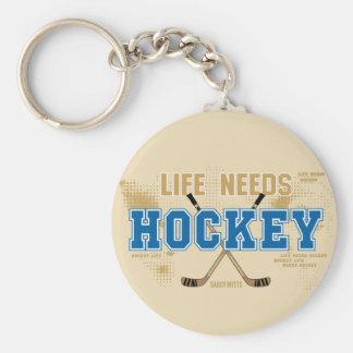 Life Needs Hockey Key Ring