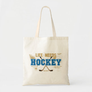 Life Needs Hockey Tote Bag