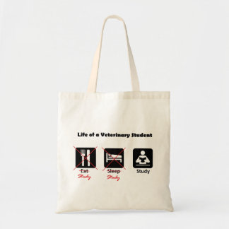 Life of a Vet Student Small Light Tote Budget Tote Bag
