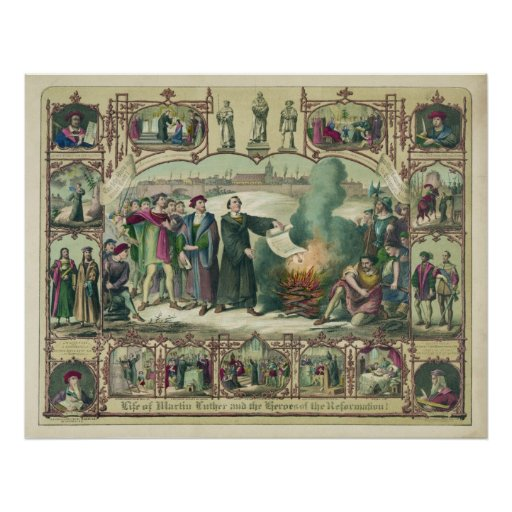 Life of Martin Luther & Heroes of the Reformation Print