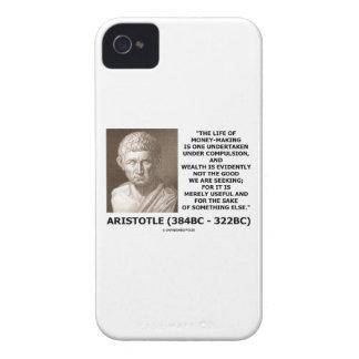 Life Of Money-Making Compulsion Wealth (Aristotle) iPhone 4 Case