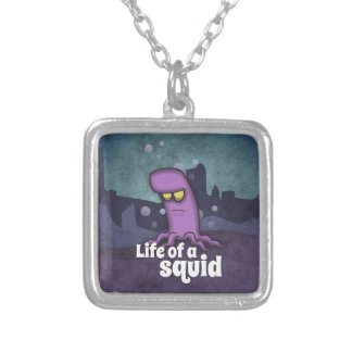 Life of to Squid Silver Plated Necklace