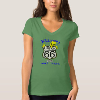 Life On 66 Kilroy was here women v-neck T-Shirt