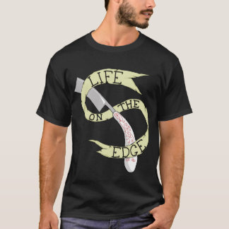 Life on the Edge Barbering Razor T-Shirt