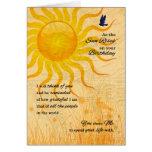 Life Partner's Birthday | Summer Meadow Greeting Card