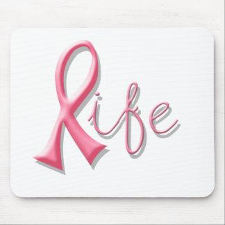 Life Pink Ribbon Mouse Pad