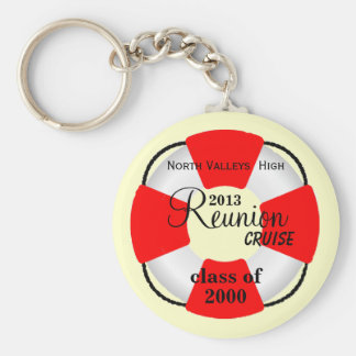 Life Preserver Class Reunion Cruise Basic Round Button Key Ring