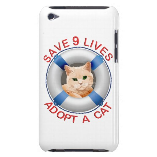 Life Preserver with Cat Adoption Barely There iPod Covers