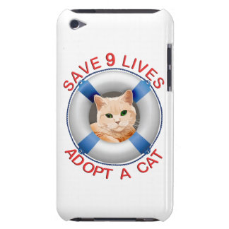 Life Preserver with Cat Adoption iPod Case-Mate Cases