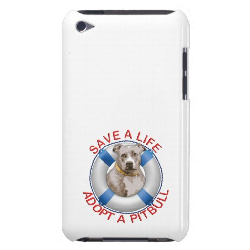 Life Preserver with Pitbull Adoption iPod Touch Case