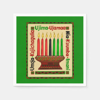 Life Principles Kwanzaa Party Paper Napkins