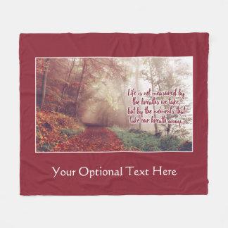 Life Quote custom fleece blankets